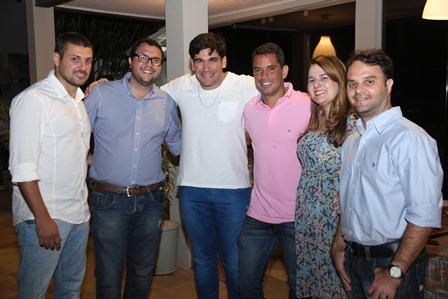 Pablo Gomes, Davi Gomes, Alcides Andrade, Rodrigo Miranda, Rico Nery e Vanessa Gomes | Foto Roberto Alonso