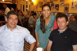 Flávio Mota, Mirian Silva e Luis Hoanda | Foto Carol Cotias