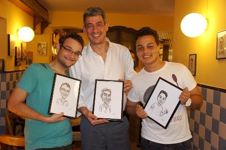 Iuri Cardin, Sandro Valença e Felipe Piva | Foto Carol Cotias