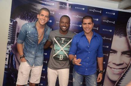 Thiaguinho com Rafa e Pipo Marques | Foto Heber Barros