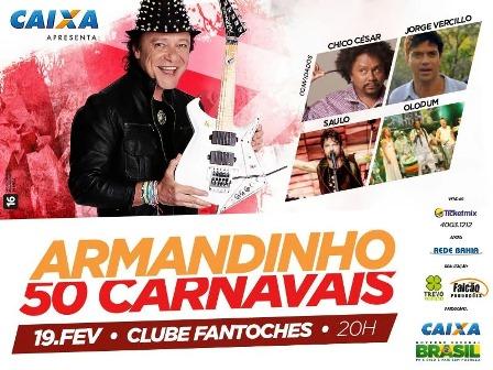 Armandinho 50 Carnavais | Foto: Divulgação