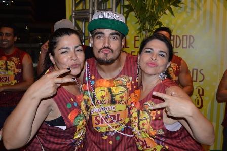 Sandra, Caio Castro e Andrea Castro | Foto: Felipe Souto Maior / AgNews