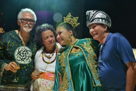 José Capinam, Aninha Franco, Marta Góes e Cesar Romero | Foto Divulgação