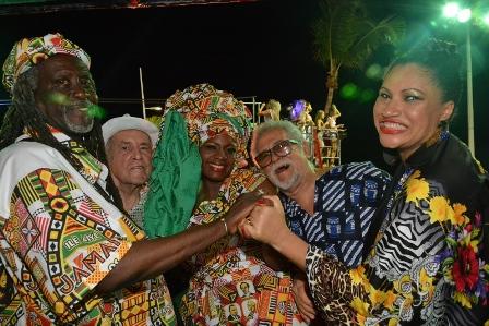 Vovô do Ilê, Orlando Tapajós, Alexandra Amorim, José Capinam e Marta Góes | Foto Kanal00